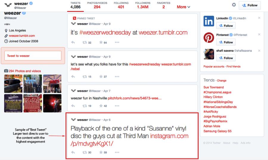 weezer best tweet - new layout